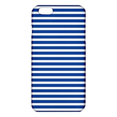 Horizontal Stripes Dark Blue iPhone 6 Plus/6S Plus TPU Case
