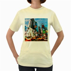 New York City Women s Yellow T Shirt