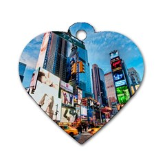 New York City Dog Tag Heart (one Side)