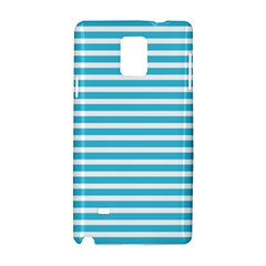 Horizontal Stripes Blue Samsung Galaxy Note 4 Hardshell Case