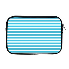 Horizontal Stripes Blue Apple Macbook Pro 17  Zipper Case
