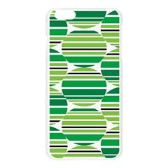 Mint Green Apple Seamless iPhone 6 Plus/6S Plus Case (Transparent)