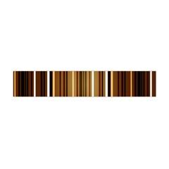 Line Brown Flano Scarf (Mini)