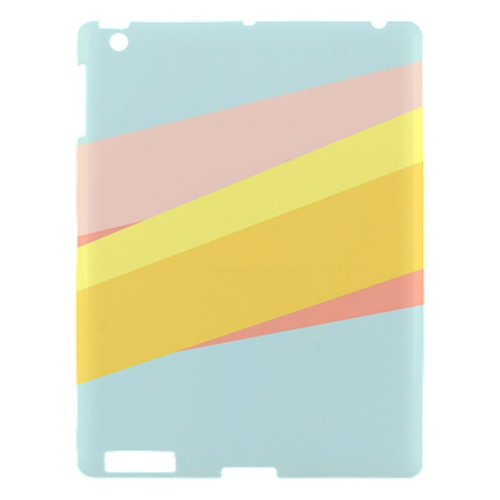Pink Green Yellow Line Flag Apple iPad 3/4 Hardshell Case