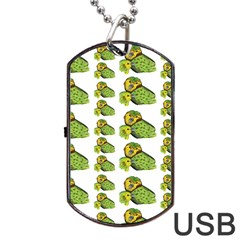 Parrot Bird Green Animals Dog Tag Usb Flash (two Sides)