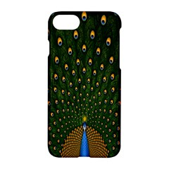 Peacock Feathers Green Apple Iphone 7 Hardshell Case