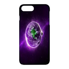 Purple Space Planet Earth Apple Iphone 7 Plus Hardshell Case