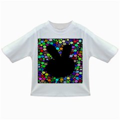 Prismatic Negative Space Comic Peace Hand Circles Infant/Toddler T-Shirts