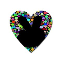 Prismatic Negative Space Comic Peace Hand Circles Heart Magnet