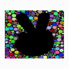 Prismatic Negative Space Comic Peace Hand Circles Small Glasses Cloth