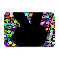 Prismatic Negative Space Comic Peace Hand Circles Plate Mats