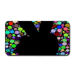 Prismatic Negative Space Comic Peace Hand Circles Medium Bar Mats