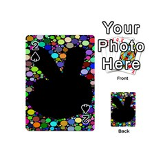 Prismatic Negative Space Comic Peace Hand Circles Playing Cards 54 (Mini)