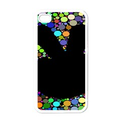 Prismatic Negative Space Comic Peace Hand Circles Apple iPhone 4 Case (White)