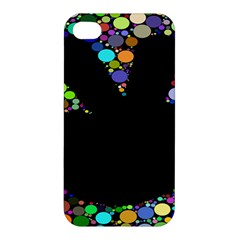 Prismatic Negative Space Comic Peace Hand Circles Apple iPhone 4/4S Hardshell Case