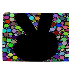 Prismatic Negative Space Comic Peace Hand Circles Cosmetic Bag (XXL)
