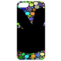 Prismatic Negative Space Comic Peace Hand Circles Apple iPhone 5 Classic Hardshell Case