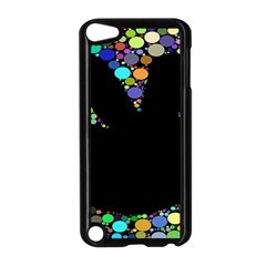 Prismatic Negative Space Comic Peace Hand Circles Apple iPod Touch 5 Case (Black)