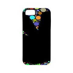Prismatic Negative Space Comic Peace Hand Circles Apple iPhone 5 Classic Hardshell Case (PC+Silicone)