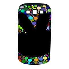 Prismatic Negative Space Comic Peace Hand Circles Samsung Galaxy S III Classic Hardshell Case (PC+Silicone)