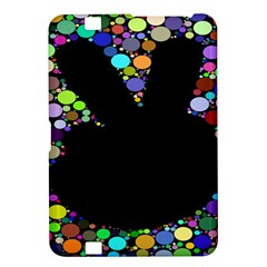 Prismatic Negative Space Comic Peace Hand Circles Kindle Fire HD 8.9