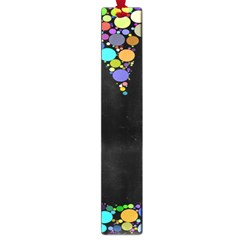 Prismatic Negative Space Comic Peace Hand Circles Large Book Marks