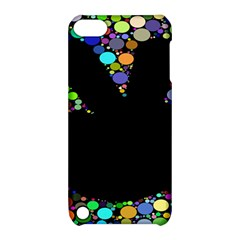 Prismatic Negative Space Comic Peace Hand Circles Apple iPod Touch 5 Hardshell Case with Stand