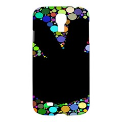 Prismatic Negative Space Comic Peace Hand Circles Samsung Galaxy S4 I9500/I9505 Hardshell Case