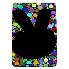 Prismatic Negative Space Comic Peace Hand Circles Flap Covers (S)