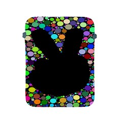 Prismatic Negative Space Comic Peace Hand Circles Apple iPad 2/3/4 Protective Soft Cases