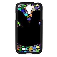 Prismatic Negative Space Comic Peace Hand Circles Samsung Galaxy S4 I9500/ I9505 Case (Black)