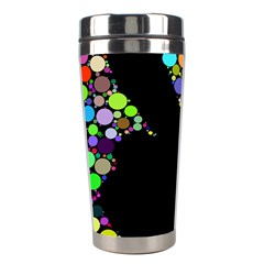 Prismatic Negative Space Comic Peace Hand Circles Stainless Steel Travel Tumblers