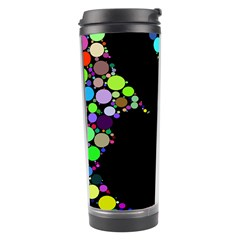 Prismatic Negative Space Comic Peace Hand Circles Travel Tumbler