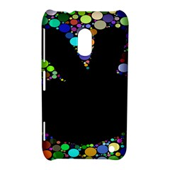 Prismatic Negative Space Comic Peace Hand Circles Nokia Lumia 620