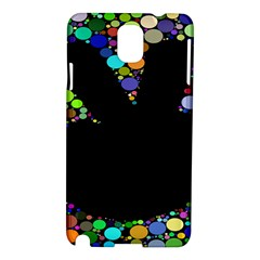 Prismatic Negative Space Comic Peace Hand Circles Samsung Galaxy Note 3 N9005 Hardshell Case