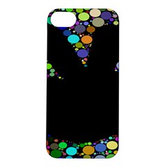 Prismatic Negative Space Comic Peace Hand Circles Apple iPhone 5S/ SE Hardshell Case