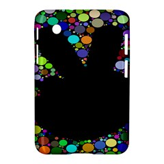 Prismatic Negative Space Comic Peace Hand Circles Samsung Galaxy Tab 2 (7 ) P3100 Hardshell Case