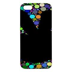 Prismatic Negative Space Comic Peace Hand Circles iPhone 5S/ SE Premium Hardshell Case