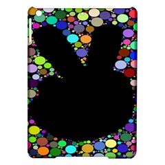 Prismatic Negative Space Comic Peace Hand Circles iPad Air Hardshell Cases