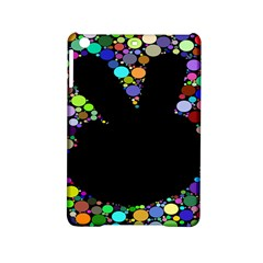 Prismatic Negative Space Comic Peace Hand Circles iPad Mini 2 Hardshell Cases