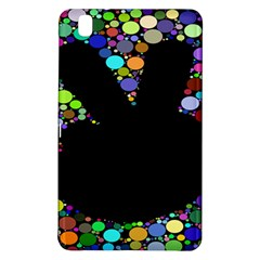 Prismatic Negative Space Comic Peace Hand Circles Samsung Galaxy Tab Pro 8.4 Hardshell Case