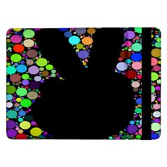 Prismatic Negative Space Comic Peace Hand Circles Samsung Galaxy Tab Pro 12.2  Flip Case