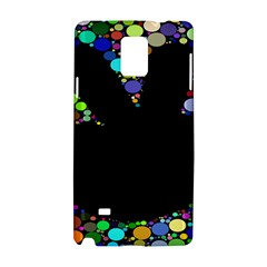 Prismatic Negative Space Comic Peace Hand Circles Samsung Galaxy Note 4 Hardshell Case