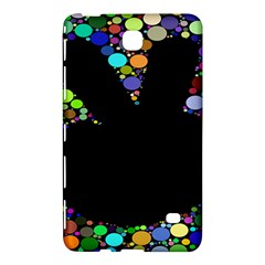 Prismatic Negative Space Comic Peace Hand Circles Samsung Galaxy Tab 4 (7 ) Hardshell Case