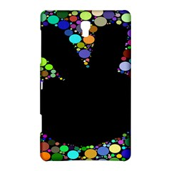 Prismatic Negative Space Comic Peace Hand Circles Samsung Galaxy Tab S (8.4 ) Hardshell Case