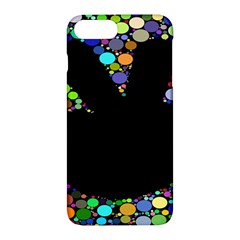 Prismatic Negative Space Comic Peace Hand Circles Apple iPhone 7 Plus Hardshell Case