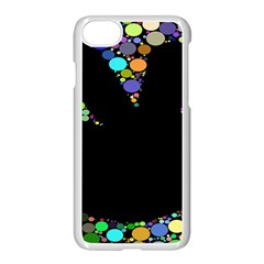 Prismatic Negative Space Comic Peace Hand Circles Apple iPhone 7 Seamless Case (White)