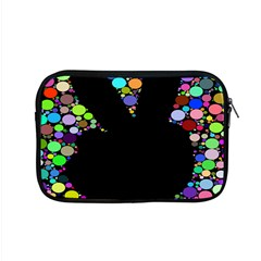 Prismatic Negative Space Comic Peace Hand Circles Apple MacBook Pro 15  Zipper Case
