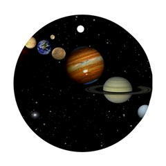Outer Space Planets Solar System Ornament (round)