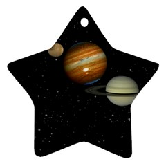 Outer Space Planets Solar System Ornament (star)